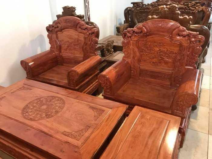 Bộ bàn ghế Khổng Tửgỗ hương đá16