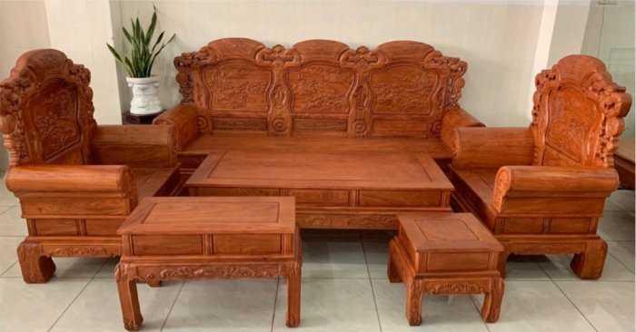 Bộ bàn ghế Khổng Tửgỗ hương đá12