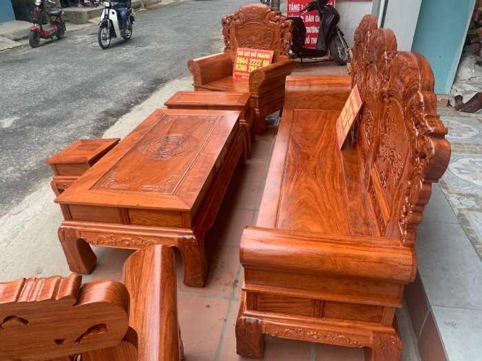 Bộ bàn ghế Khổng Tửgỗ hương đá10