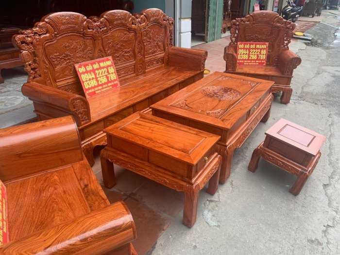 Bộ bàn ghế Khổng Tửgỗ hương đá9