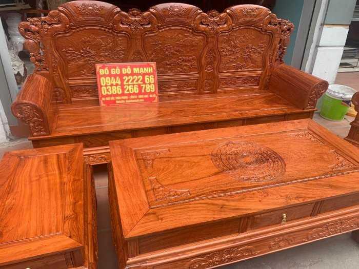 Bộ bàn ghế Khổng Tửgỗ hương đá0
