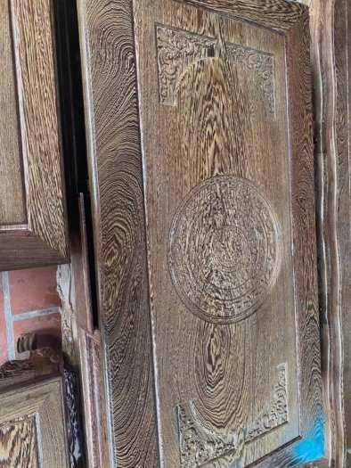 Bộ bàn ghế mẫu mới hoàng gia gỗ mun đuôi công3