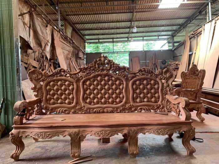 Bộ bàn ghế mẫu mới hoàng gia gỗ hương đá12