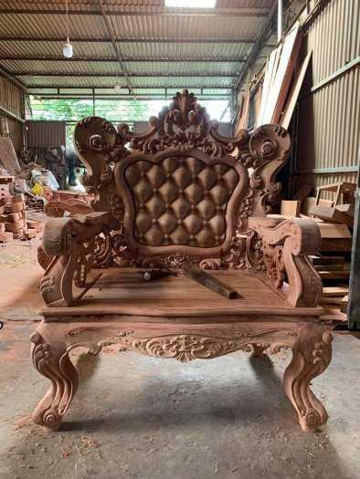 Bộ bàn ghế mẫu mới hoàng gia gỗ hương đá11