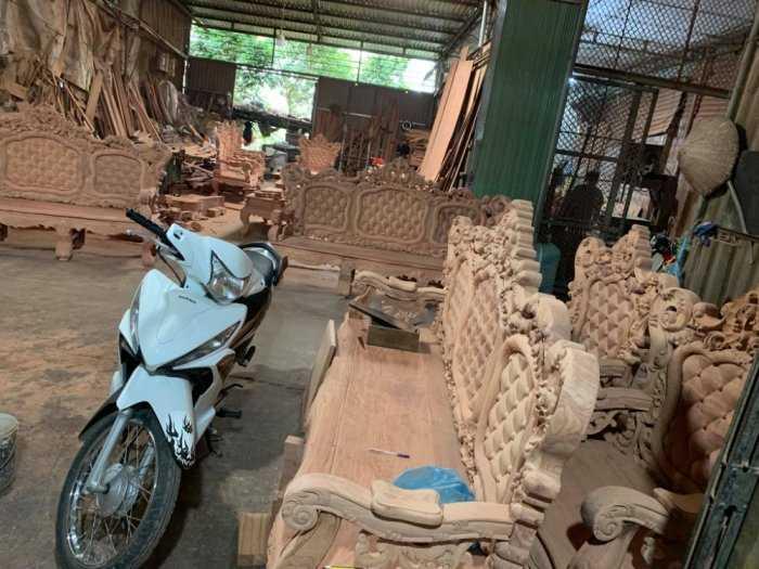 Bộ bàn ghế mẫu mới hoàng gia gỗ hương đá6