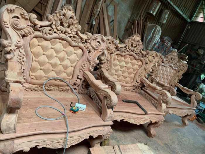 Bộ bàn ghế mẫu mới hoàng gia gỗ hương đá1