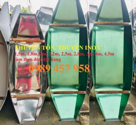 Thuyền chèo tay giá rẻ cho 2 người, thuyền inox 2m, Thuyền tôn chèo tay4