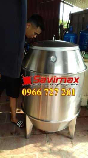 Lu nướng vịt, lu nướng gà vịt , lò quay gà vịt inox phi 60 Savimax4