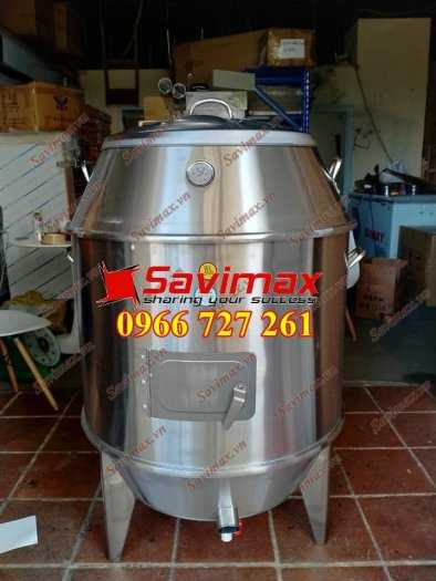 Lu nướng vịt, lu nướng gà vịt , lò quay gà vịt inox phi 60 Savimax2