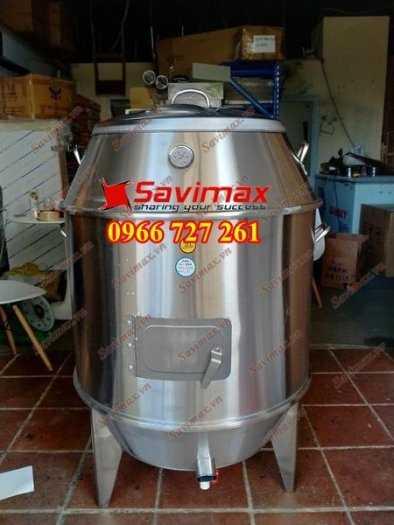 Lu nướng vịt, lu nướng gà vịt , lò quay gà vịt inox phi 60 Savimax0