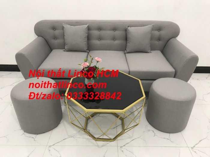 Sofa băng BgTC05 | Sofa băng màu xám trắng ghi, sofa xám tro, xám bạc | Nội thất Linco HCM10