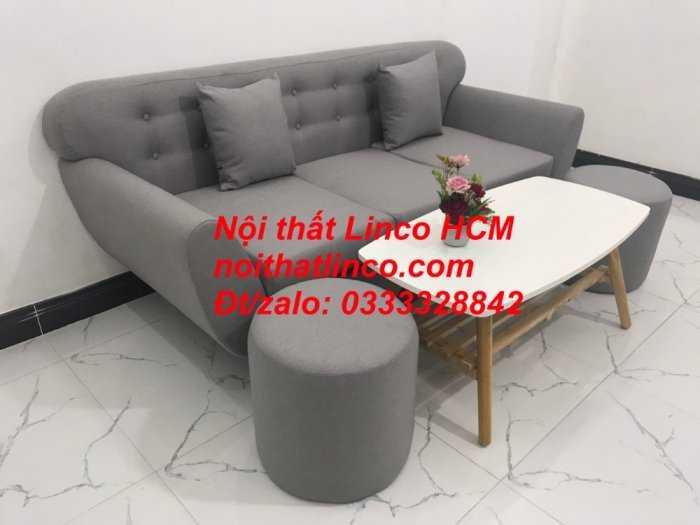 Sofa băng BgTC05 | Sofa băng màu xám trắng ghi, sofa xám tro, xám bạc | Nội thất Linco HCM9