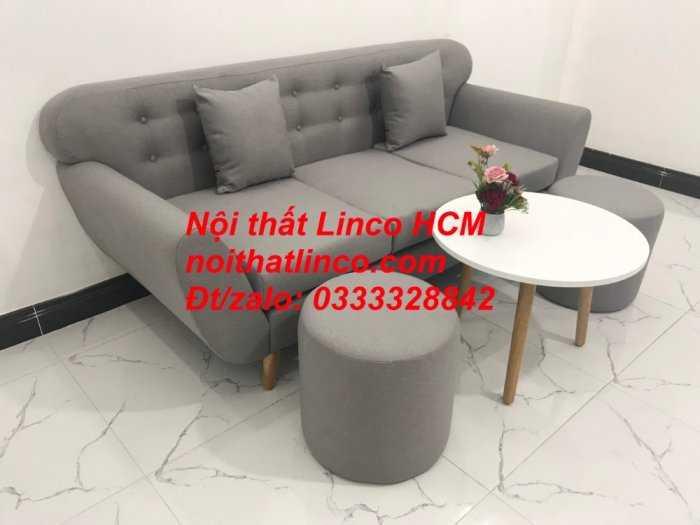 Sofa băng BgTC05 | Sofa băng màu xám trắng ghi, sofa xám tro, xám bạc | Nội thất Linco HCM8