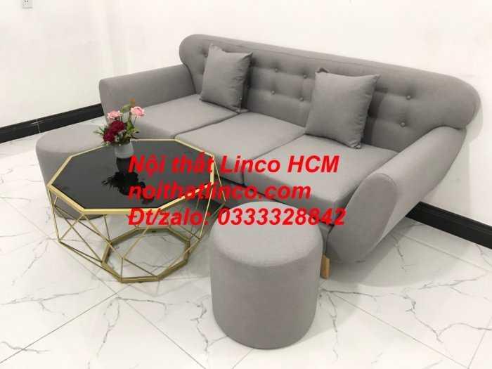 Sofa băng BgTC05 | Sofa băng màu xám trắng ghi, sofa xám tro, xám bạc | Nội thất Linco HCM7