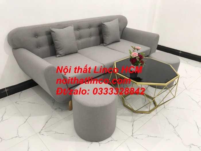 Sofa băng BgTC05 | Sofa băng màu xám trắng ghi, sofa xám tro, xám bạc | Nội thất Linco HCM6
