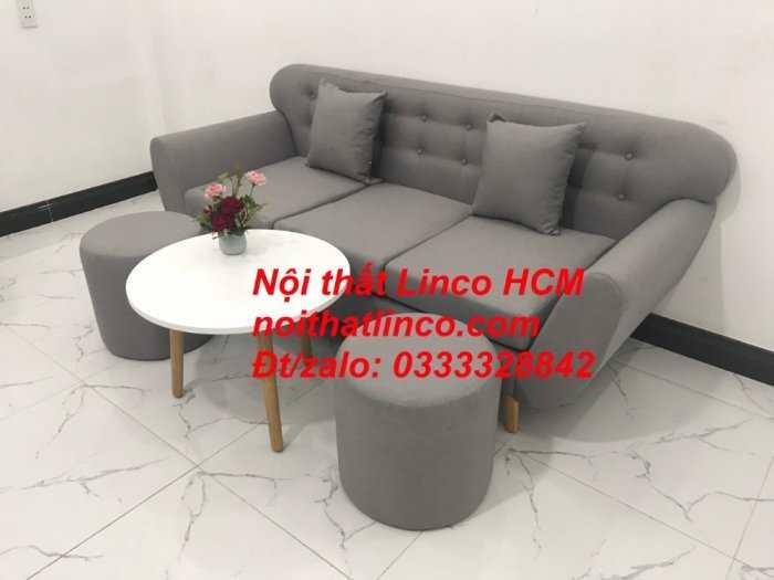 Sofa băng BgTC05 | Sofa băng màu xám trắng ghi, sofa xám tro, xám bạc | Nội thất Linco HCM5