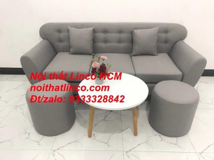 Sofa băng BgTC05 | Sofa băng màu xám trắng ghi, sofa xám tro, xám bạc | Nội thất Linco HCM4