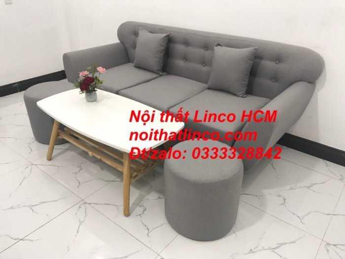 Sofa băng BgTC05 | Sofa băng màu xám trắng ghi, sofa xám tro, xám bạc | Nội thất Linco HCM3