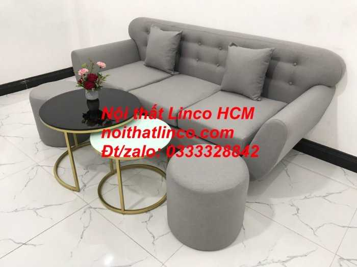 Sofa băng BgTC05 | Sofa băng màu xám trắng ghi, sofa xám tro, xám bạc | Nội thất Linco HCM2