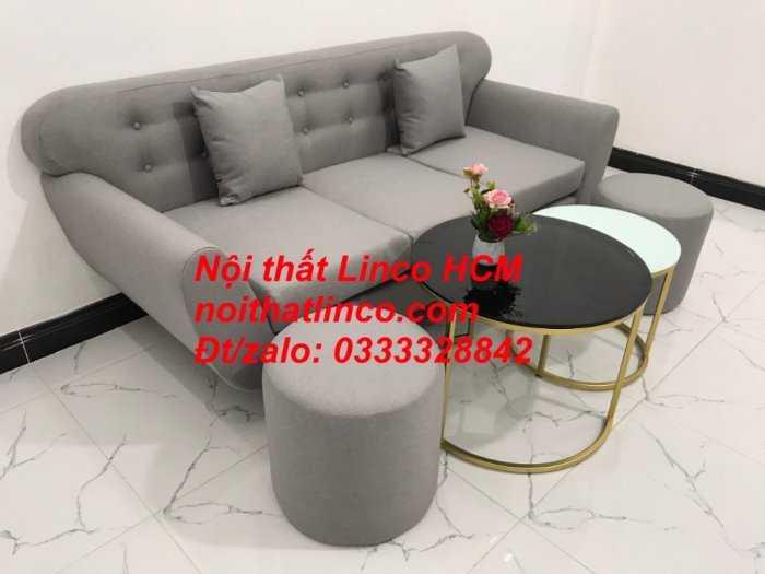 Sofa băng BgTC05 | Sofa băng màu xám trắng ghi, sofa xám tro, xám bạc | Nội thất Linco HCM1