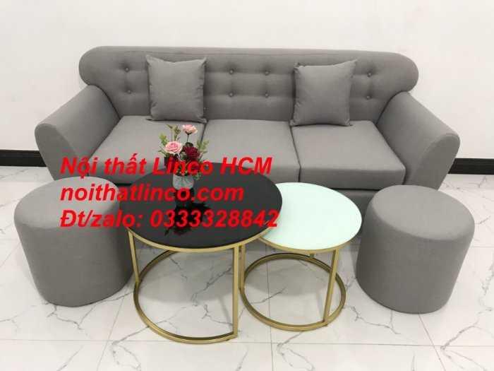 Sofa băng BgTC05 | Sofa băng màu xám trắng ghi, sofa xám tro, xám bạc | Nội thất Linco HCM0