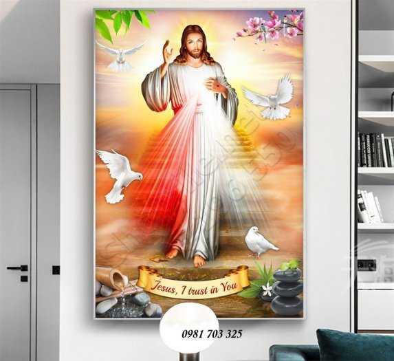 Gạch tranh 3D công giáo2
