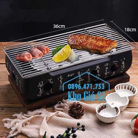Bếp nướng gang kiểu Nhật - Lò nướng Nhật Bản - Bếp nướng than bằng gang kiểu Nhật HCM13