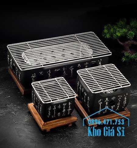 Lò nướng than Kiểu Nhật - Bếp nướng để bàn kiểu nhật hình vuông - Bếp nướng gang kiểu nhật hình tròn giá tốt tại HCM