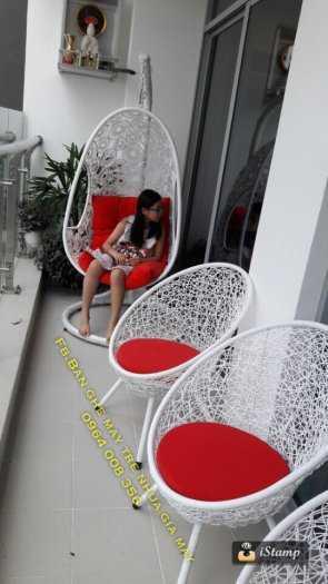Bàn ghế ban công chung cư nhựa giả mây11
