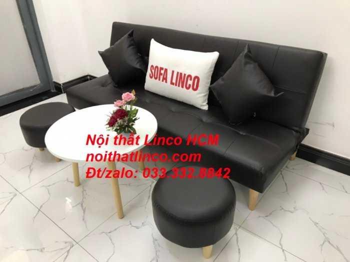 Sopha, salong nệm, Sofa màu đen | ghế sofa màu đen | sofa vải simili đen giá rẻ Nội thất Linco HCM Tphcm sài gòn quận thủ đức bình thạnh, tân bình tân phú nhuận3