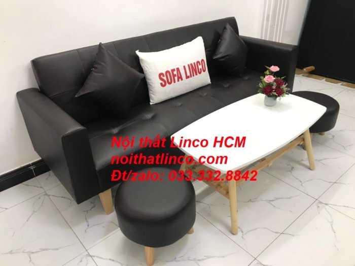 Sopha, salong nệm, Sofa màu đen | ghế sofa màu đen | sofa vải simili đen giá rẻ Nội thất Linco HCM Tphcm sài gòn quận thủ đức bình thạnh, tân bình tân phú nhuận2