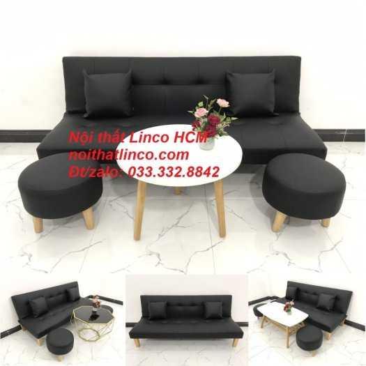 Sopha, salong nệm, Sofa màu đen | ghế sofa màu đen | sofa vải simili đen giá rẻ Nội thất Linco HCM Tphcm sài gòn quận thủ đức bình thạnh, tân bình tân phú nhuận1