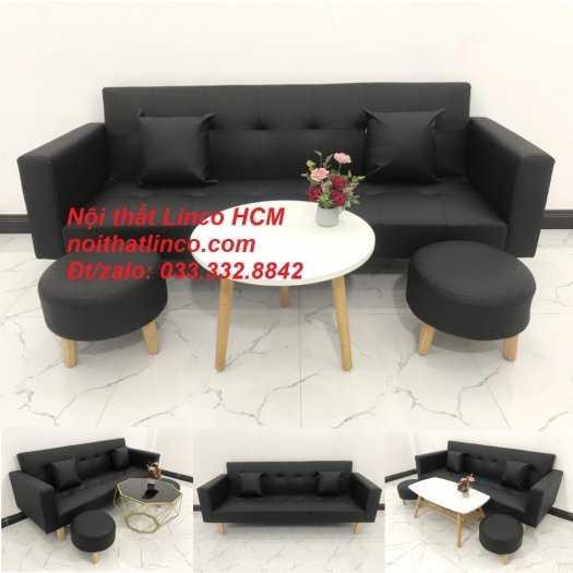 Sopha, salong nệm, Sofa màu đen | ghế sofa màu đen | sofa vải simili đen giá rẻ Nội thất Linco HCM Tphcm sài gòn quận thủ đức bình thạnh, tân bình tân phú nhuận0