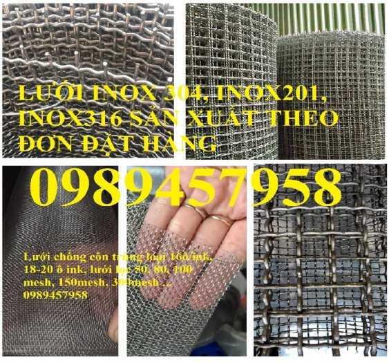 Chuyên lưới inox 304 dây 0,2mm, 1mm, 1,2mm, 1,5mm, 2ly, 3ly2