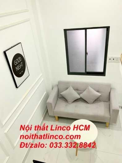 Ghế sofa băng 1m5, sofa giường nhỏ màu xám trắng, ghi trắng   Nội thất Linco HCM, Cần Giuộc Bến Lức Tân An Long An thủ đức củ chi0