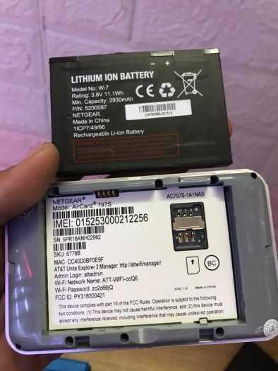 Pin rời thay thế cho wifi Netgear 790S-797s-800s-810S - Pin zin mới chính hãng netgear2