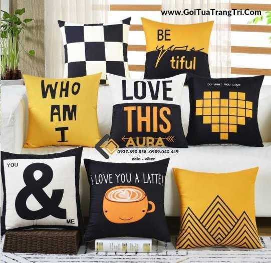SỈ số lượng lớn Gối Tựa Lưng Hình Lập Thể Dùng cho ghế sofa, nệm dựa lưng quán trà sữa