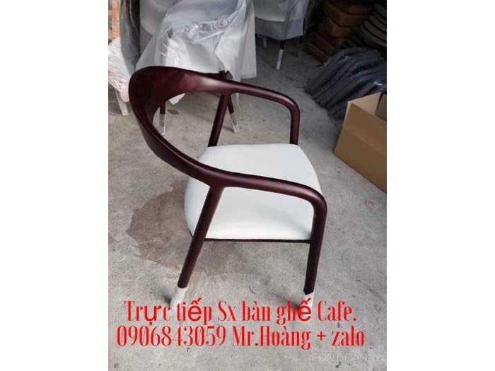 Ghế caffe gỗ nệm neva giá xưởng - Nội Thất Nguyễn Hoàng0