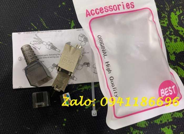 Hạt mạng chống nhiễu Cat6A STP không dùng tool, có chụp nhựa2