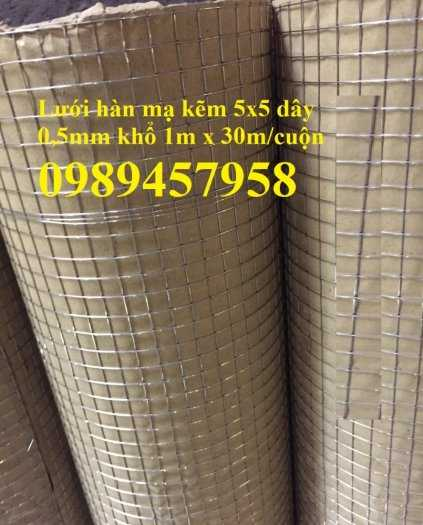 Lưới hàn mạ kẽm dây 2ly, 3ly ô 25x25, 50x50 giá sỉ2