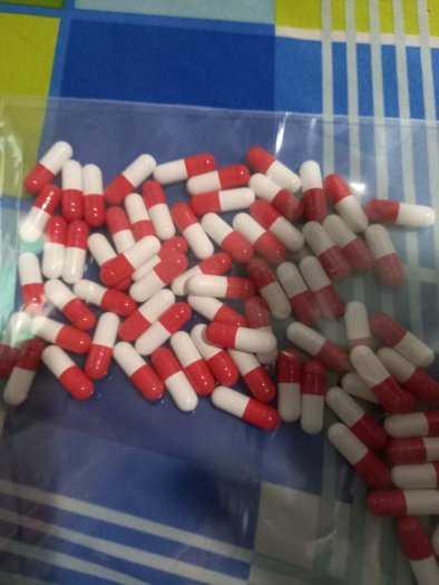 1000 Vỏ nhộng rỗng màu đỏ trắng, vỏ nang gelatin rỗng, vỏ nang rỗng, vỏ nang cứng size 0