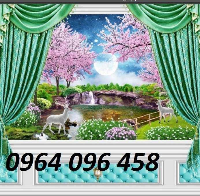 Tranh cửa sổ - gạch tranh 3d cửa sổ - DK097