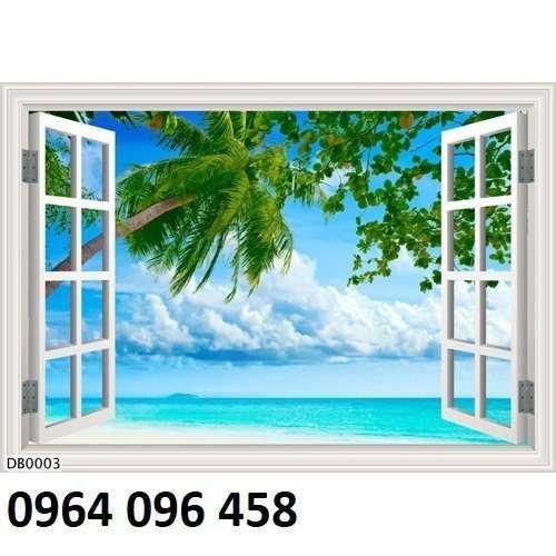 Tranh cửa sổ - gạch tranh 3d cửa sổ - DK096