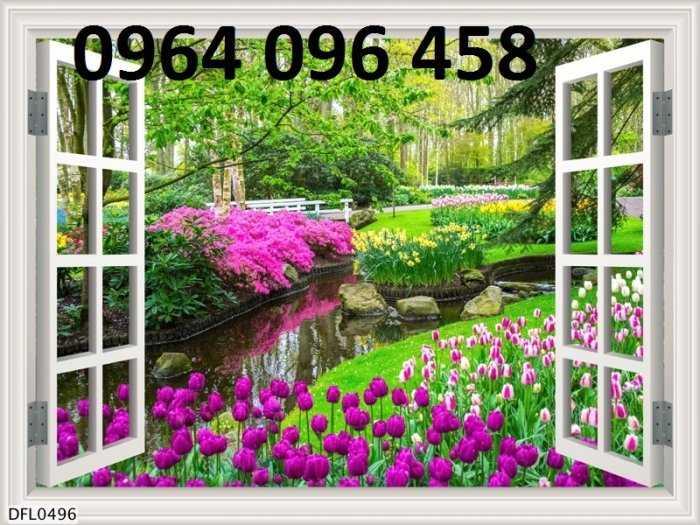 Tranh cửa sổ - gạch tranh 3d cửa sổ - DK094