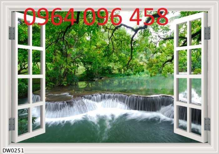 Tranh cửa sổ - gạch tranh 3d cửa sổ - DK093
