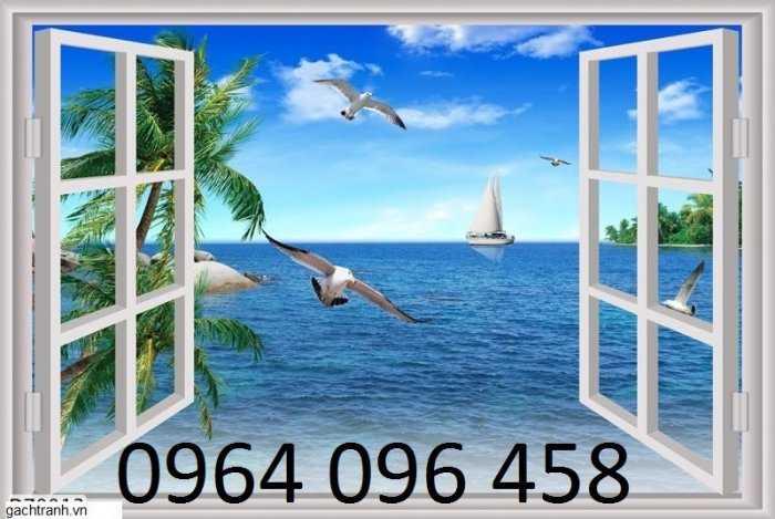 Tranh cửa sổ - gạch tranh 3d cửa sổ - DK092