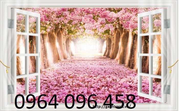 Tranh cửa sổ - gạch tranh 3d cửa sổ - DK091