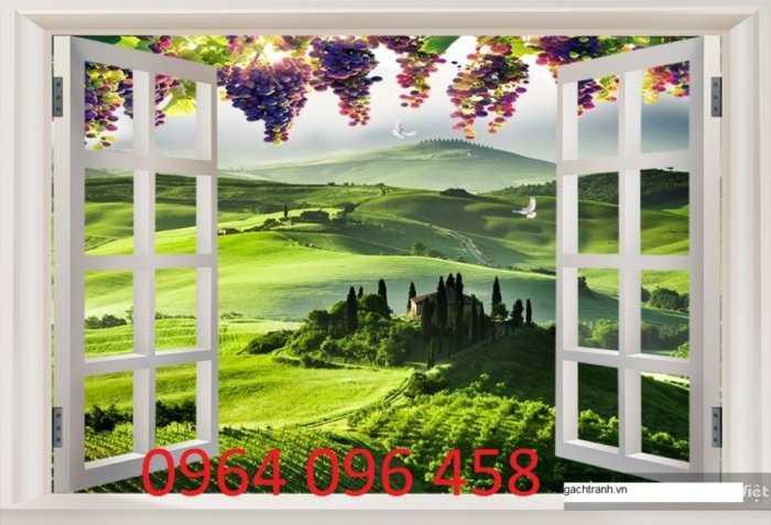 Tranh cửa sổ - gạch tranh 3d cửa sổ - DK090