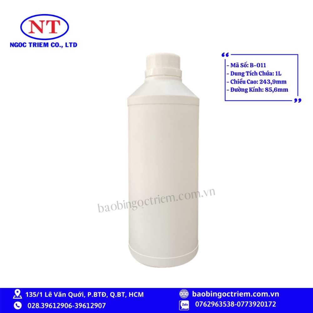 Bình Nhựa HDPE 1lít B-011 - BAO BÌ NGỌC TRIÊM0