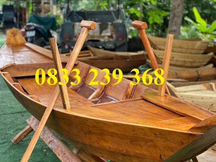 Thuyền gỗ 3m trang trí, Thuyền bày hải sản, Thuyền chụp ảnh6